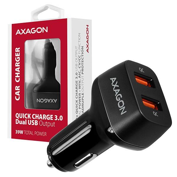 Axagon PWC-DQC 2x QC3.0 fekete autós töltő - 6