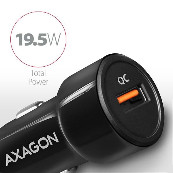 Axagon PWC-QC QC3.0 fekete autós töltő - 2
