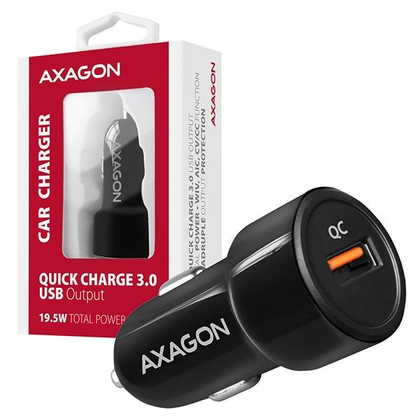 Axagon PWC-QC QC3.0 fekete autós töltő - 6