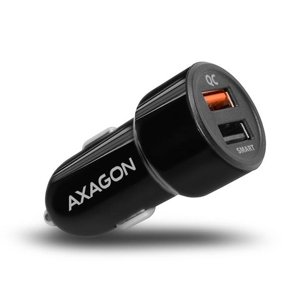 Axagon PWC-QC5 QC3.0 + 2.4A fekete autós töltő - 1