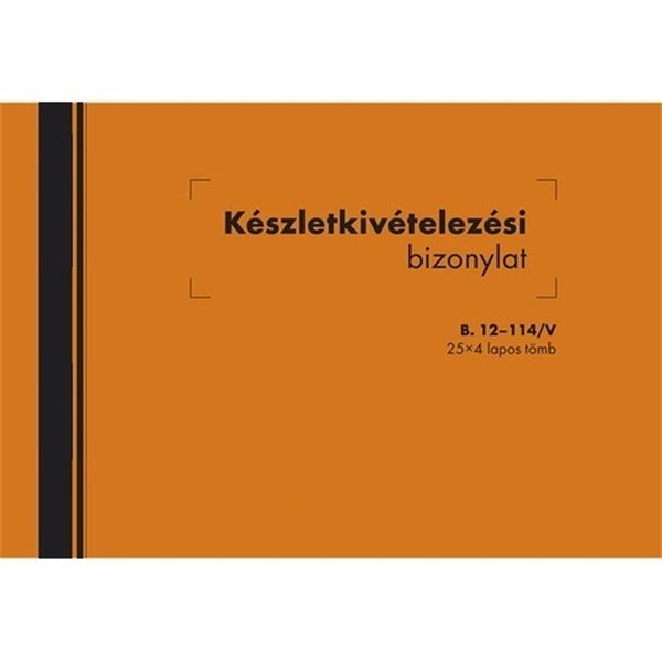 B.12-114/V A5 25x4lapos fekvő készletkivételezési bizonylat - 1