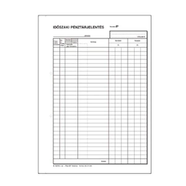 B.13-21/V A4 25x2+2lapos álló időszaki pénztárjelentés - 1