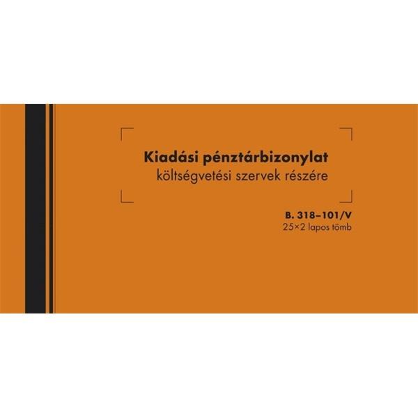 B.318-101 25x2lapos kiadási pénztárbizonylat költségvetés - 1