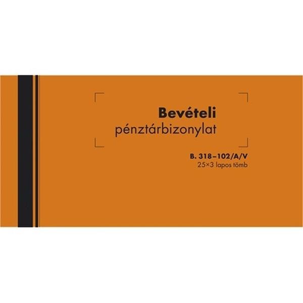 B.318-102/A/V 25x3lapos bevételi pénztárbizonylat - 1