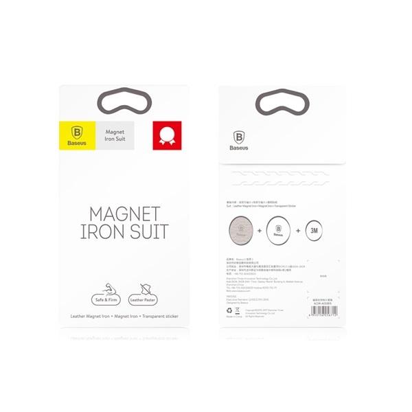 Baseus Magnet iron Suit 2 db ezüst mágneskorong autós tartóhoz - 2
