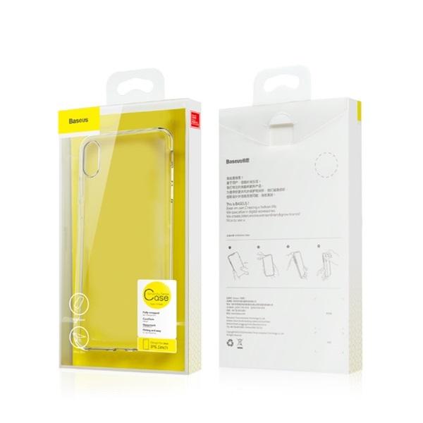 Baseus Simplicity Series iPhone Xs arany-átlátszó TPU tok - 1