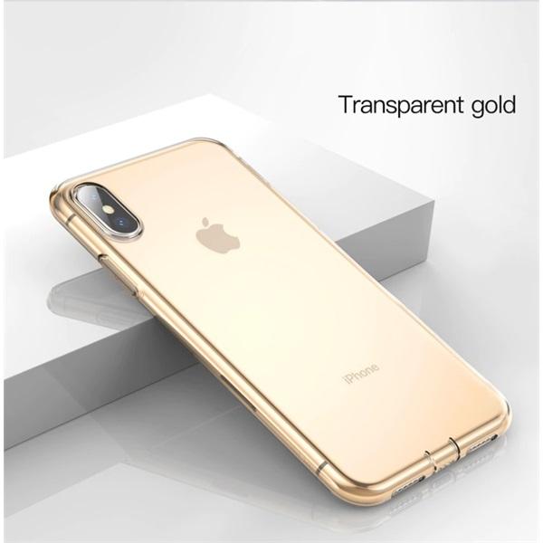 Baseus Simplicity Series iPhone Xs arany-átlátszó TPU tok - 2
