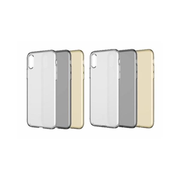 Baseus Simplicity Series iPhone Xs arany-átlátszó TPU tok - 3