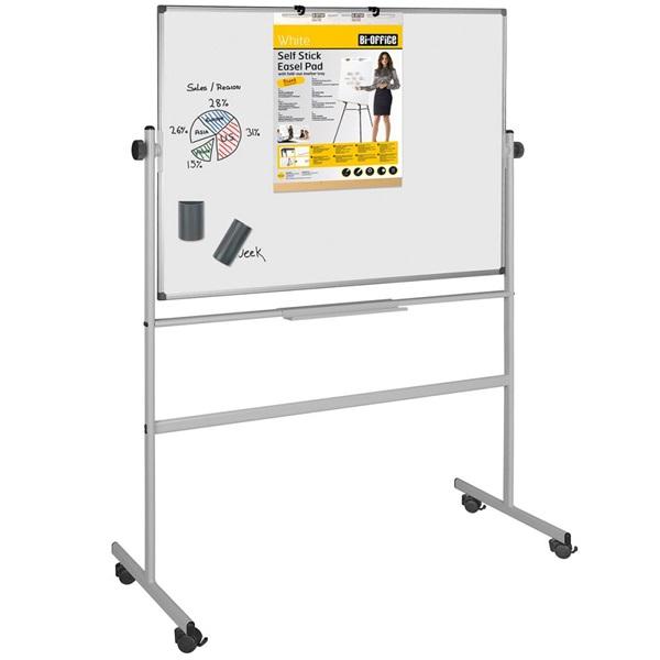 Bi-Office 120x150cm kétoldalas forgatható mágneses fehértábla - 1