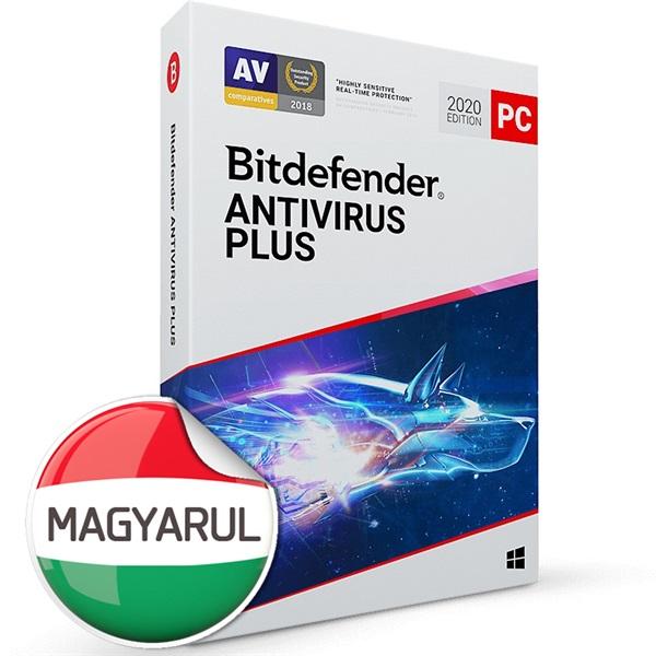 Bitdefender Antivirus Plus HUN  1 Eszköz 1 év dobozos vírusirtó szoftver - 1