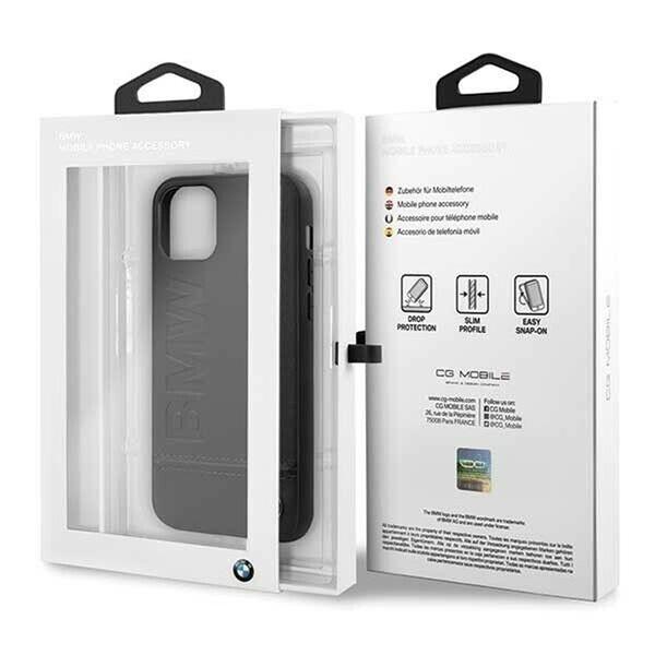 BMW Logo Imprint iPhone 11 Pro fekete keménytok - 5