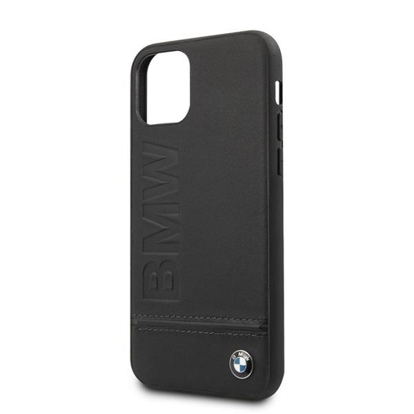BMW Logo Imprint iPhone 11 Pro Max fekete keménytok - 2