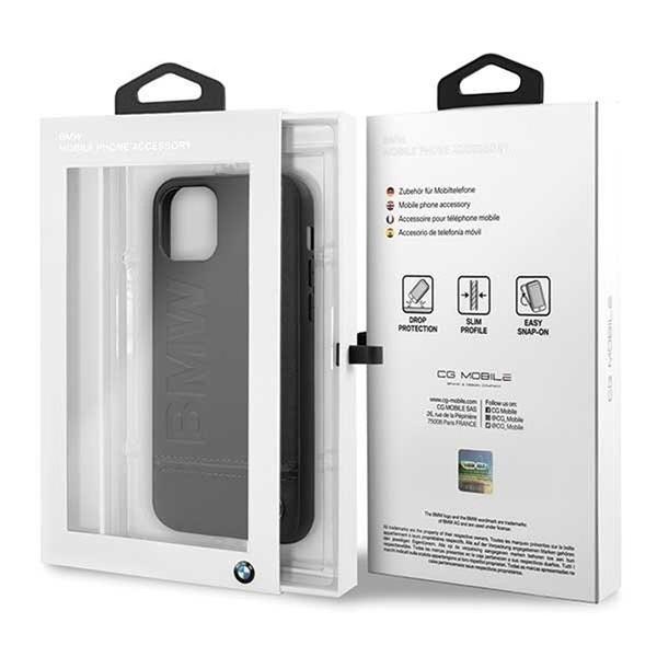 BMW Logo Imprint iPhone 11 Pro Max fekete keménytok - 5