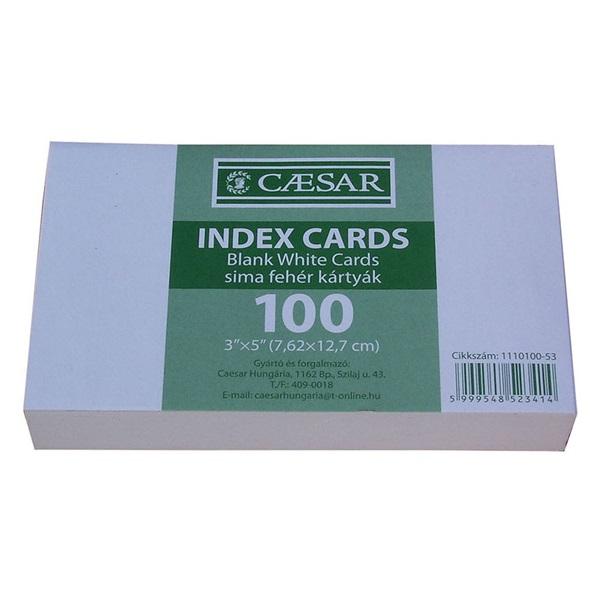 Caesar sima 100db/csomag indexkártya - 1