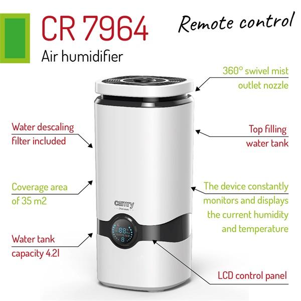 Camry CR7964 4,2l ultrahangos párásító - 3