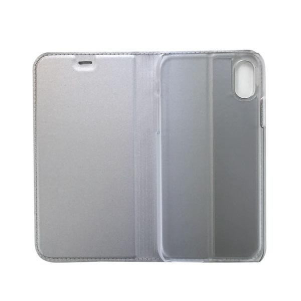 Cellect BOOKTYPE-IPHXS-S iPhone XS ezüst flip oldalra nyíló tok - 1
