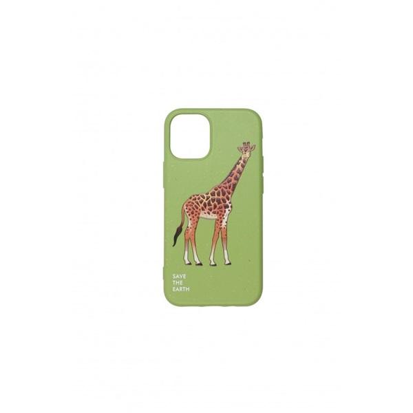 Cellect CEL-GREENIPH1254GGF GoGreen iPhone 12, 5.4 zöld zsiráf mintás hátlap - 1