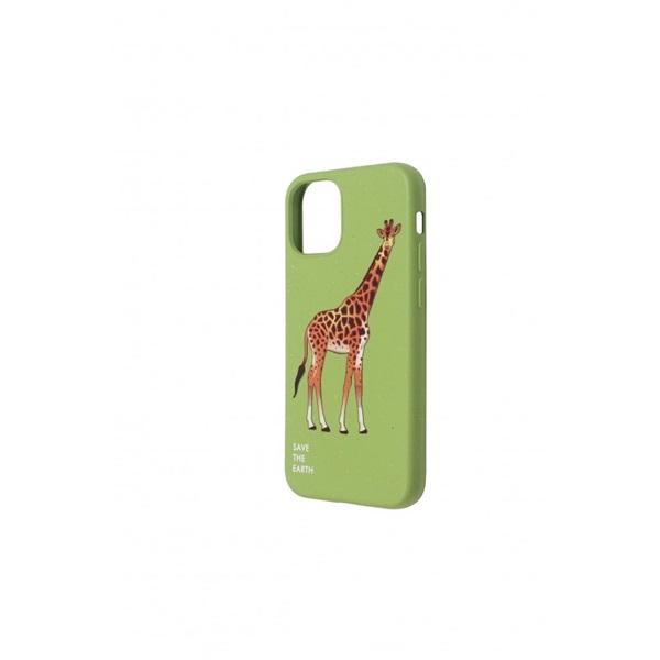Cellect CEL-GREENIPH1254GGF GoGreen iPhone 12, 5.4 zöld zsiráf mintás hátlap - 2