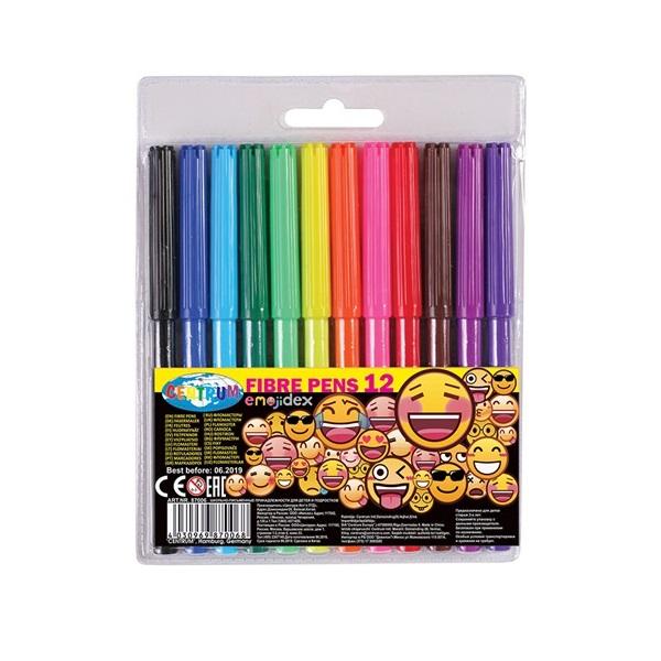 Centrum Emojidex 12db-os vegyes színű rostirón készlet - 1