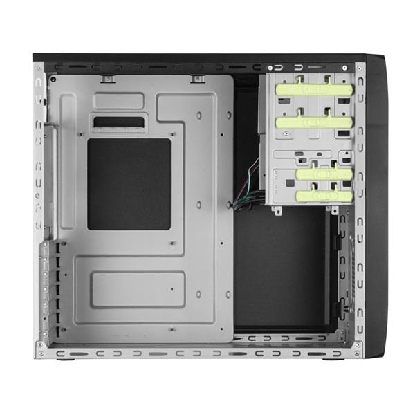 Chieftec CG-04B-OP Mesh szériás táp nélküli fekete mATX / ATX ház - 4