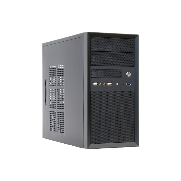 Chieftec CT-01B-OP táp nélküli fekete mATX ház - 1