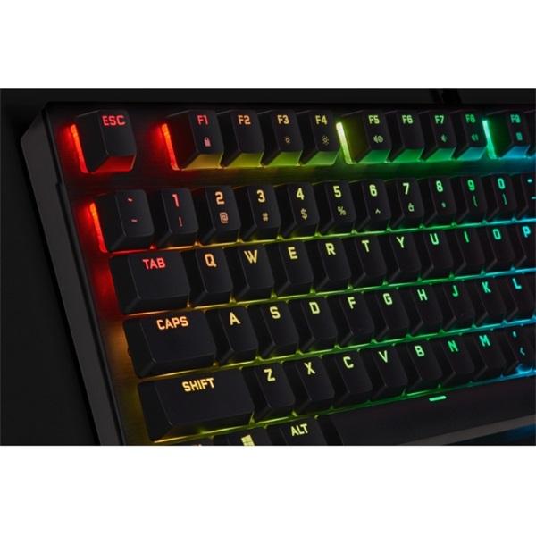 Corsair K60 RGB PRO CHERRY MX SPEED LOW PROFILE Mechanikus Gamer billentyűzet - 4