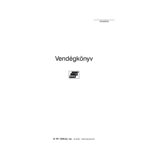 D.VV.1250/UJ 140x200mm 48oldalas vendégkönyv - 1
