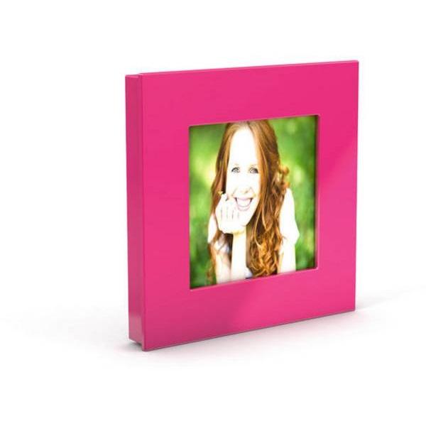 Dahle Mega XL 75x75mm négyzet alakú rózsaszín mágnes fénykép keret - 3