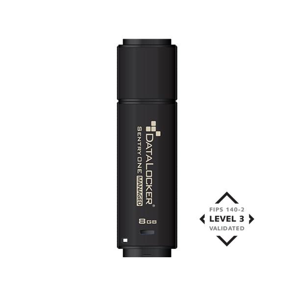 DataLocker 8GB USB3.1 Sentry One Managed Encrypted FIPS 140-2 Level 3 (SONE008M) Flash Drive - 1