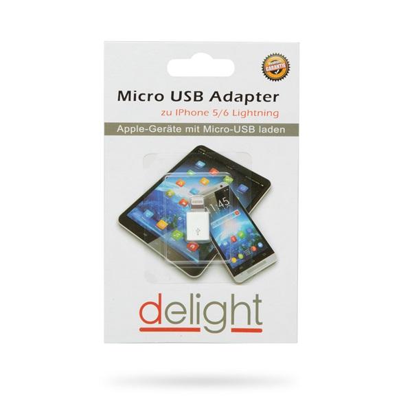 Delight 55448 iPhone Lightning MicroUSB fehér adapter - 2