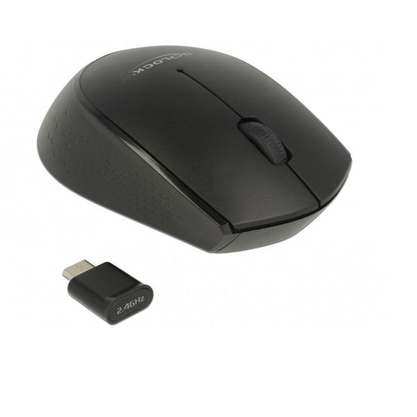 Delock 12526 vezeték nélküli USB Type-C™ fekete egér - 1