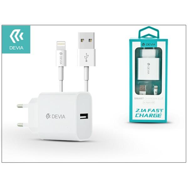 Devia ST300363 Smart 2,1A univerzális fehér hálózati töltő - 1