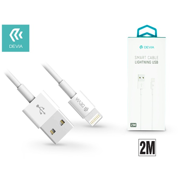Devia ST311598 Smart 2m fehér lightning kábel - 1