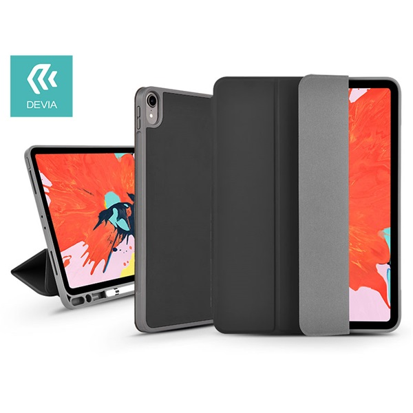 Devia ST319051 Leather iPad Pro 12.9 2018 fekete védőtok - 1