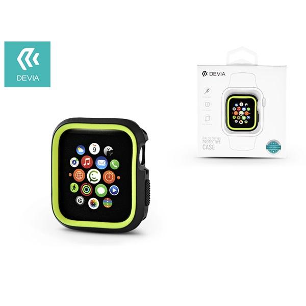Devia ST323867 Dazzle Apple Watch 4 40mmfekete/zöld védőtok - 1