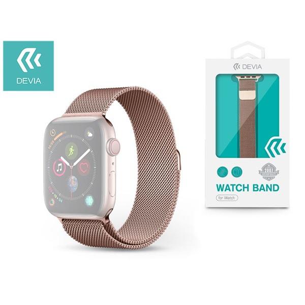 Devia ST326400 Apple Watch rózsaarany fém óraszíj - 1