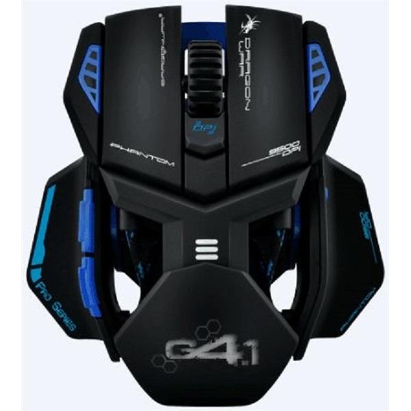 Dragon War Phantom 4.1 fekete-kék gamer egér - 1