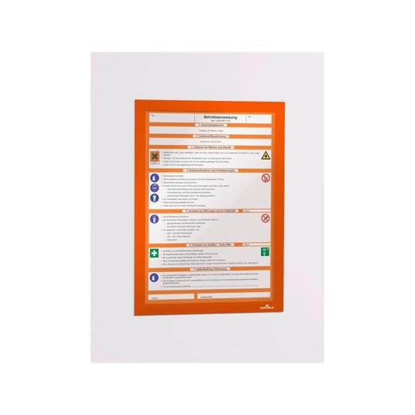 Durable Duraframe A4 2db narancssárga információs keret - 2