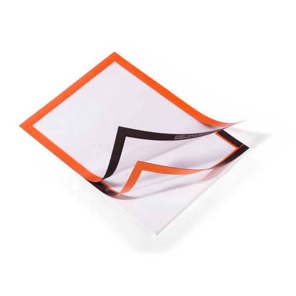 Durable Duraframe A4 2db narancssárga információs keret - 3