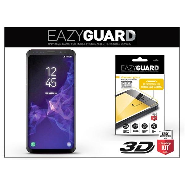 EazyGuard LA-1295 Samsung G965 S9+ fekete 3D üveg kijelzővédő fólia - 1