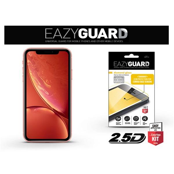 EazyGuard LA-1398 2.5D iPhone XR/11 fekete kijelzővédő fólia - 1