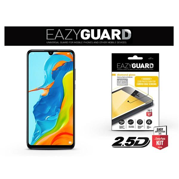 EazyGuard LA-1463 Huawei P30 Lite fekete 2.5D üveg kijelzővédő fólia - 1