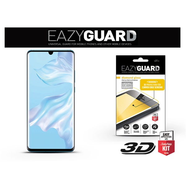 EazyGuard LA-1464 Huawei P30 Pro fekete 2.5D üveg kijelzővédő fólia - 1