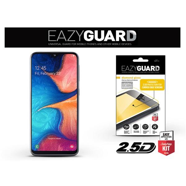 EazyGuard LA-1485 Samsung A20e fekete 2.5D üveg kijelzővédő fólia - 1