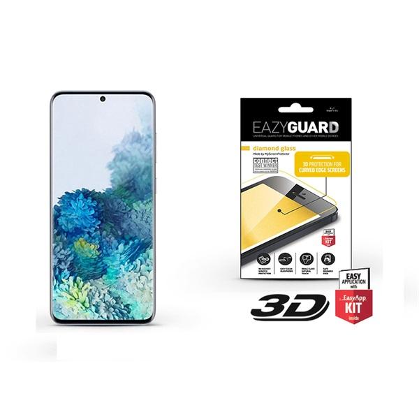 EazyGuard LA-1615 Samsung S20 fekete 3D üveg kijelzővédő fólia - 1