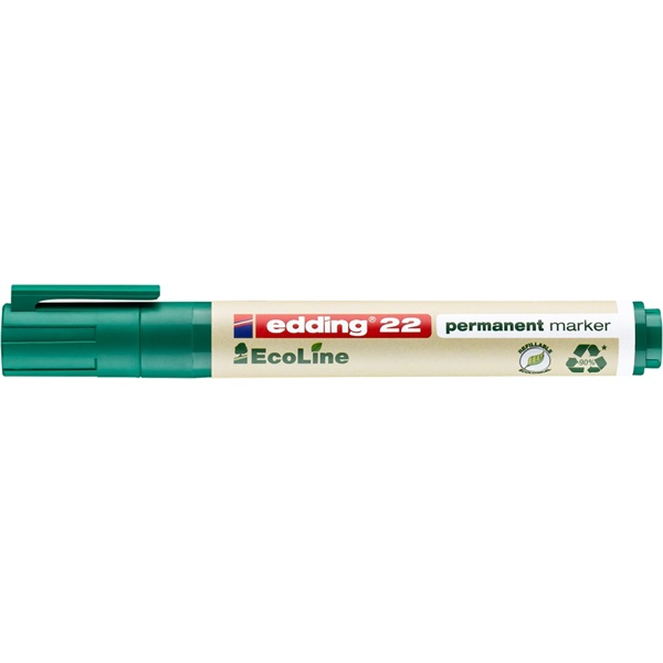 Edding 22 Ecoline zöld permanent marker - 1