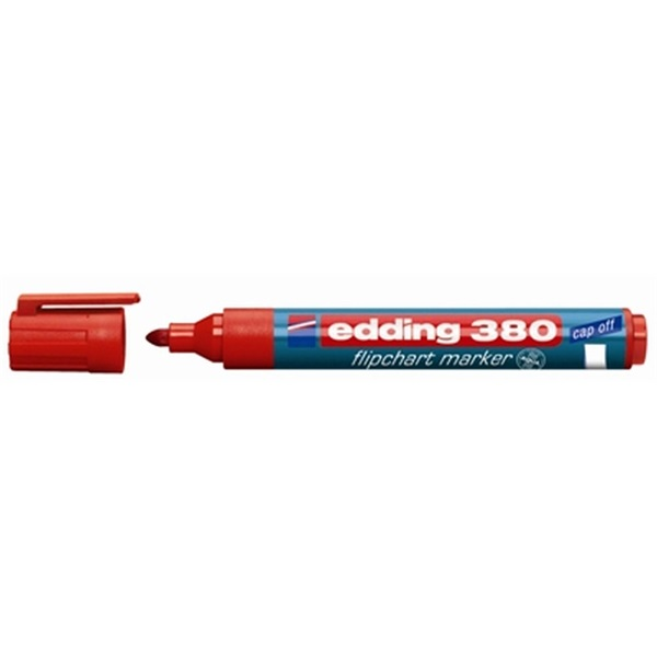 Edding 380 kerek hegyű piros flipchart marker - 1