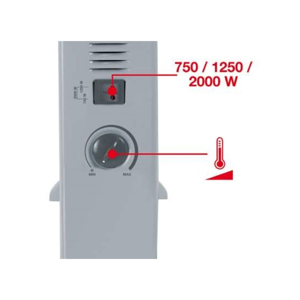 Einhell 2338605 CH 2000/1 elektromos konvektor - 2