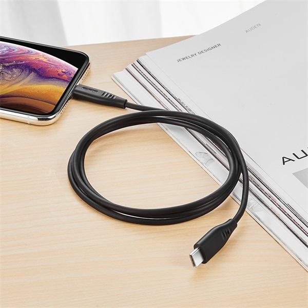 ESR  5V/3A 1m fekete USB C lightning PD kábel - 1