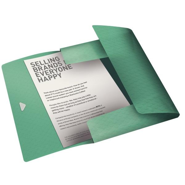 Esselte ColourIce A4 zöld gumis mappa - 2